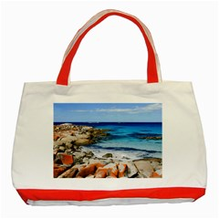 Bay Of Fires Classic Tote Bag (red)  by trendistuff