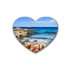 Bay Of Fires Heart Coaster (4 Pack)  by trendistuff
