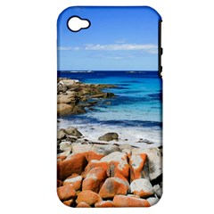 Bay Of Fires Apple Iphone 4/4s Hardshell Case (pc+silicone) by trendistuff