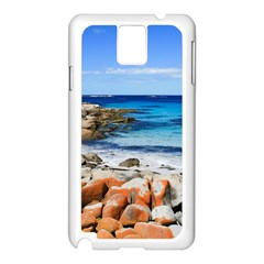 Bay Of Fires Samsung Galaxy Note 3 N9005 Case (white) by trendistuff