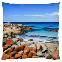 Bay Of Fires Large Flano Cushion Cases (one Side)  by trendistuff