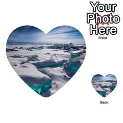 Turquoise Ice Multi Purpose Cards (heart)  by trendistuff
