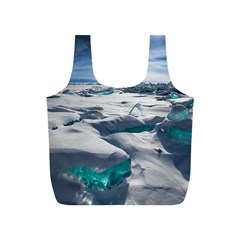 Turquoise Ice Full Print Recycle Bags (s)