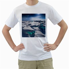 Turquoise Ice Men s T Shirt (white)  by trendistuff