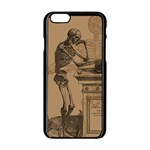 Vintage Skeletons Apple iPhone 6/6S Black Enamel Case Front
