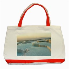 Travertine Pools Classic Tote Bag (red)  by trendistuff