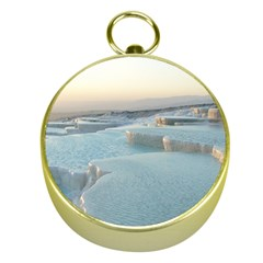 Travertine Pools Gold Compasses by trendistuff