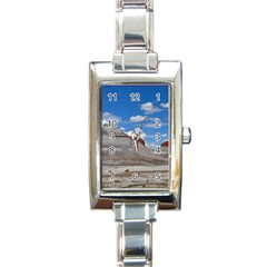 Petrified Forrest Tepees Rectangle Italian Charm Watches by trendistuff