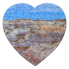 Painted Desert Jigsaw Puzzle (heart) by trendistuff