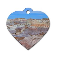 Painted Desert Dog Tag Heart (two Sides) by trendistuff