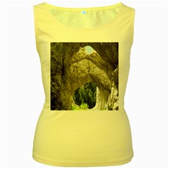 Limestone Formations Women s Yellow Tank Tops