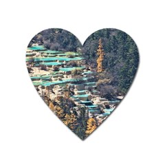 Huanglong Pools Heart Magnet by trendistuff