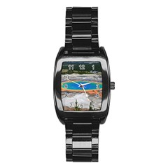 Grand Prismatic Stainless Steel Barrel Watch by trendistuff