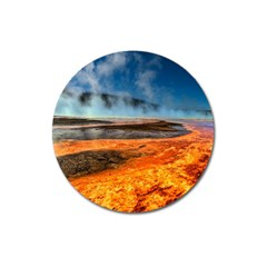 Fire River Magnet 3  (round) by trendistuff