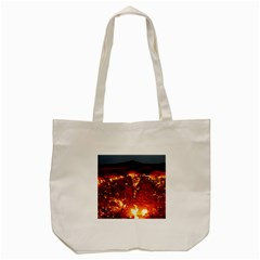 Door To Hell Tote Bag (cream)  by trendistuff