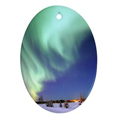 Aurora Borealis Ornament (oval)  by trendistuff