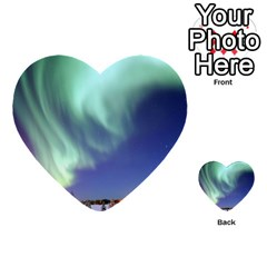 Aurora Borealis Multi-purpose Cards (heart)