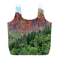 Upper Emerald Trail Full Print Recycle Bags (l)  by trendistuff