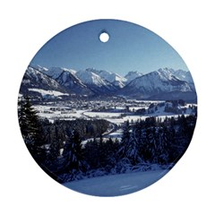 Snowy Mountains Ornament (round)