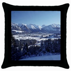 Snowy Mountains Throw Pillow Cases (black) by trendistuff