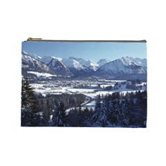 Snowy Mountains Cosmetic Bag (large)  by trendistuff