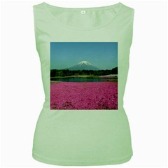 Shibazakura Women s Green Tank Tops by trendistuff
