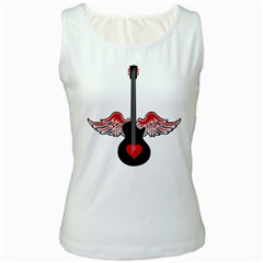 Flying Heart Guitar Women s Tank Top by waywardmuse