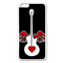 Flying Heart Guitar Apple Iphone 6 Plus/6s Plus Enamel White Case