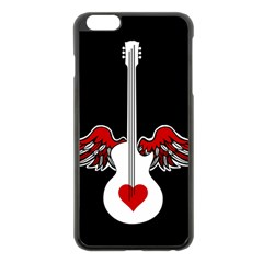 Flying Heart Guitar Apple Iphone 6 Plus/6s Plus Black Enamel Case by waywardmuse