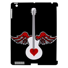 Flying Heart Guitar Apple Ipad 3/4 Hardshell Case (compatible With Smart Cover) by waywardmuse