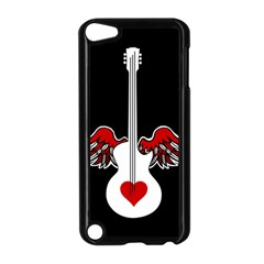 Flying Heart Guitar Apple Ipod Touch 5 Case (black)