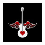Flying Heart Guitar Medium Glasses Cloth (2 Sides) Front