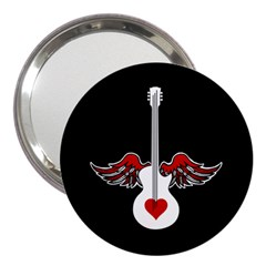 Flying Heart Guitar 3  Handbag Mirror by waywardmuse