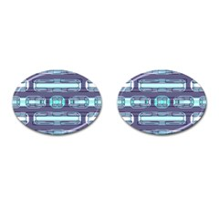 Modern Pattern Factory 01 Cufflinks (oval) by MoreColorsinLife