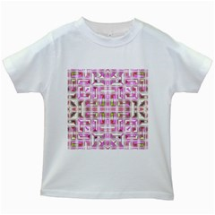Modern Pattern Factory 01 Kids White T Shirts by MoreColorsinLife