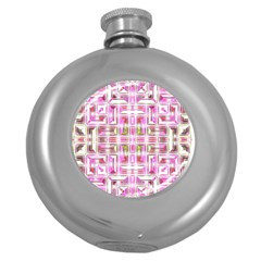 Modern Pattern Factory 01 Round Hip Flask (5 Oz) by MoreColorsinLife