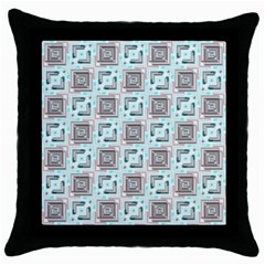 Modern Pattern Factory 04b Throw Pillow Cases (black)