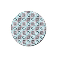 Modern Pattern Factory 04b Rubber Coaster (round)  by MoreColorsinLife