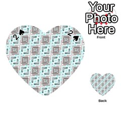 Modern Pattern Factory 04b Playing Cards 54 (heart)  by MoreColorsinLife