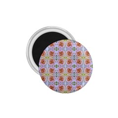 Pink Light Blue Pastel Flowers 1 75  Magnets by Costasonlineshop