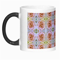 Pink Light Blue Pastel Flowers Morph Mugs