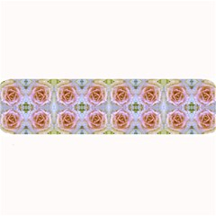 Pink Light Blue Pastel Flowers Large Bar Mats by Costasonlineshop