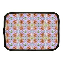 Pink Light Blue Pastel Flowers Netbook Case (medium)  by Costasonlineshop