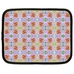 Pink Light Blue Pastel Flowers Netbook Case (XL)  Front
