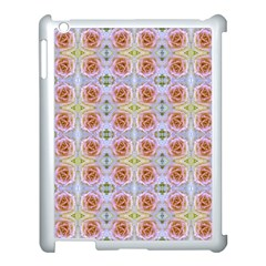 Pink Light Blue Pastel Flowers Apple Ipad 3/4 Case (white) by Costasonlineshop
