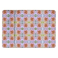 Pink Light Blue Pastel Flowers Samsung Galaxy Tab 10 1  P7500 Flip Case by Costasonlineshop