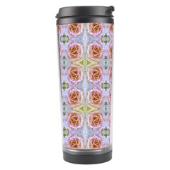 Pink Light Blue Pastel Flowers Travel Tumblers by Costasonlineshop