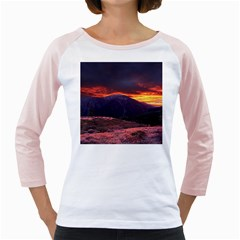 San Gabriel Mountain Sunset Girly Raglans