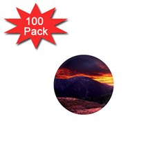 San Gabriel Mountain Sunset 1  Mini Magnets (100 Pack)