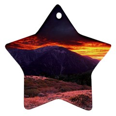 San Gabriel Mountain Sunset Star Ornament (two Sides)  by trendistuff